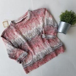Postmark Anthro pullover sweatshirt top stripe Sm